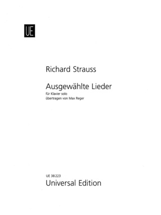 Richard Strauss: Selected Songs for piano solo