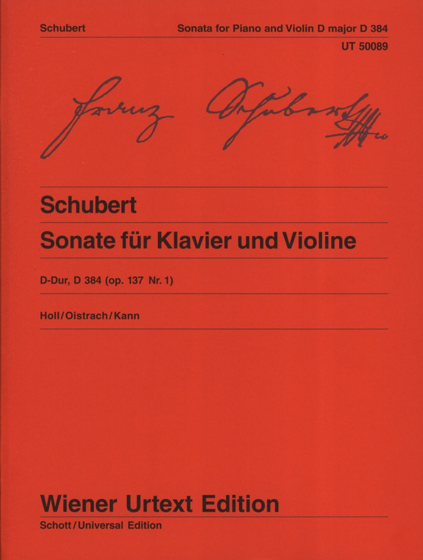 Franz Schubert: Sonata (Sonatine) for violin and piano op. 137/1 D 384
