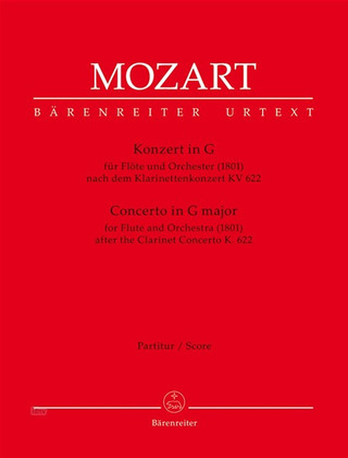 Wolfgang Amadeus Mozart: Concerto for Flute and Orchestra in G major