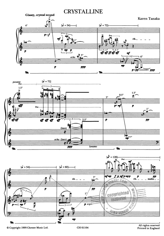Karen Tanaka: Tanaka Crystalline For Solo Piano (1)