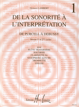 De la sonorité à l'interprétation 1