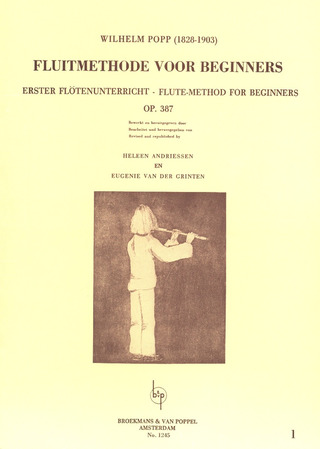 Wilhelm Popp: Flute-method for beginners