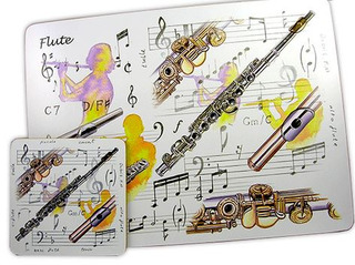 Little Snoring Gifts: Flute Placemat Set