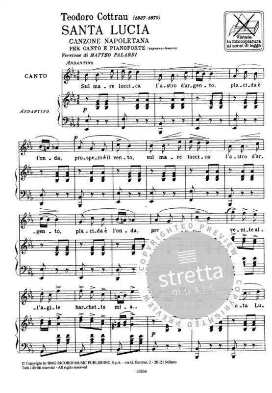 Santa Lucia Lied Deutsch