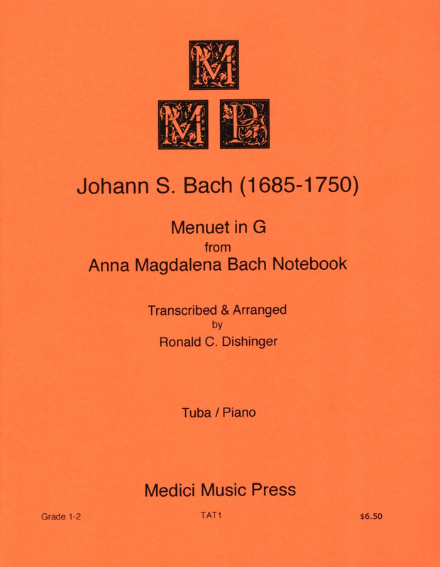 Johann Sebastian Bach: Menuet G major from A.M. Bach Notebook