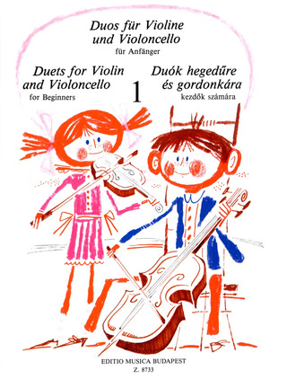 Duets for Violin and Violoncello for Beginners 1