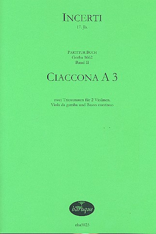 Anonymus: Ciaccona A 3