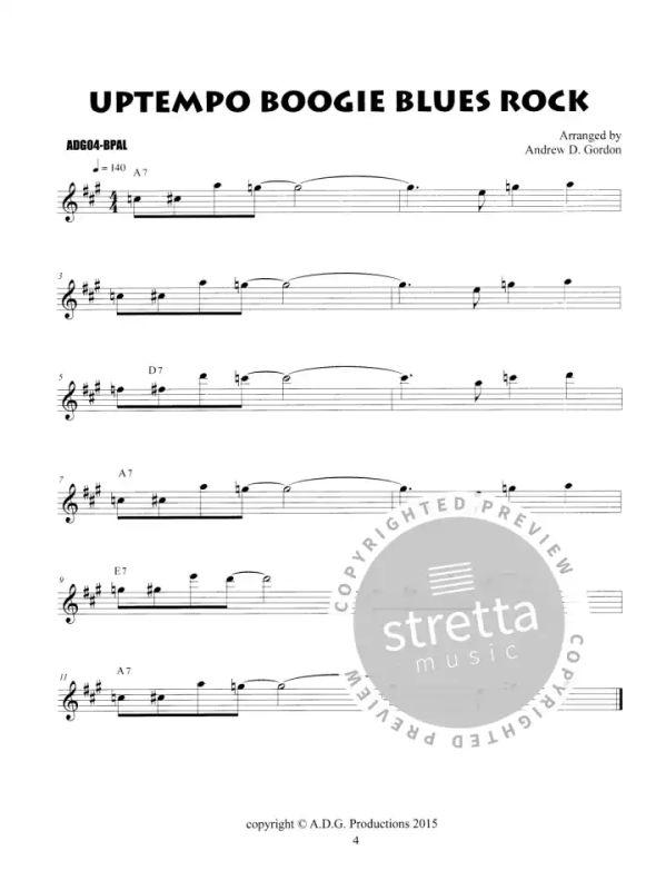 Blues Play Along Solos Collection Beginner Tenor sax von