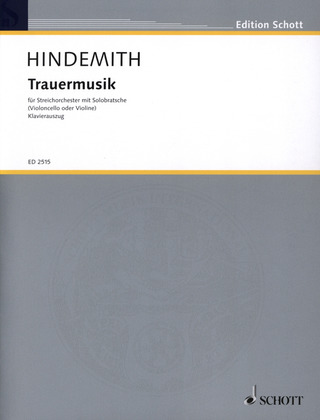 Paul Hindemith: Music of Mourning