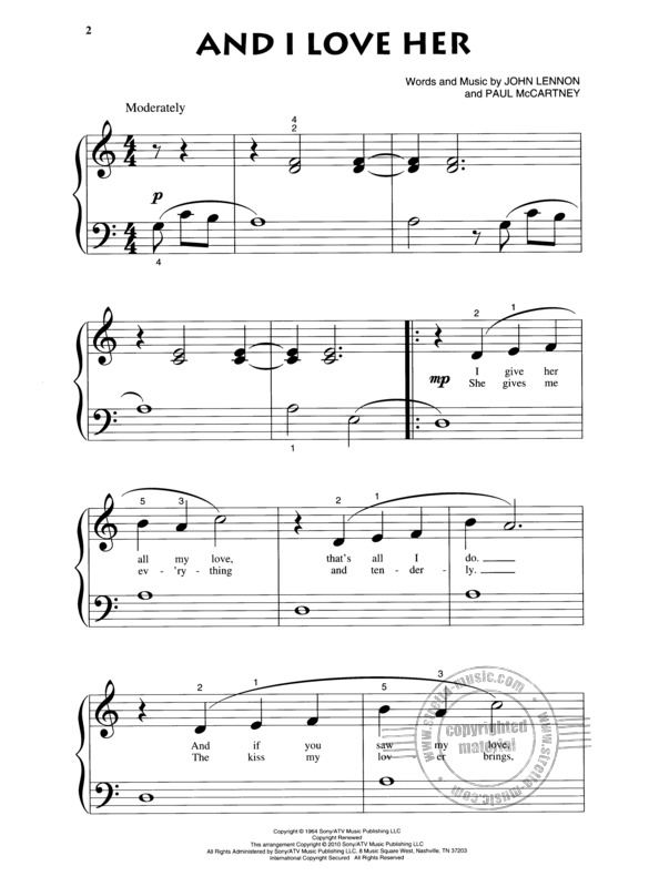 The Beatles: Songs Of The Beatles - Beginning Piano Solo (1)