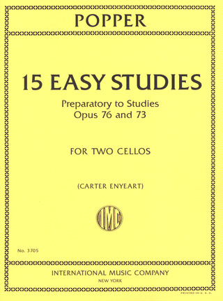 David Popper: Preparatory to Studies op.76 and op.73