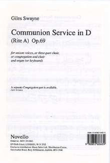 Swayne Giles: Communion Service In D Op 69