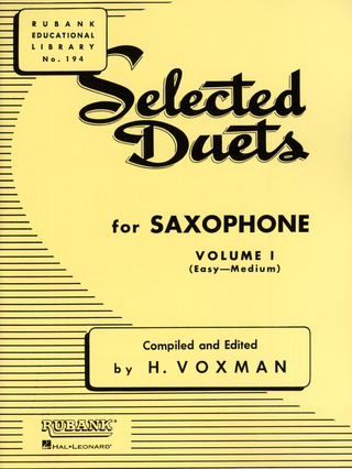 Selected Duets for Saxophone 1