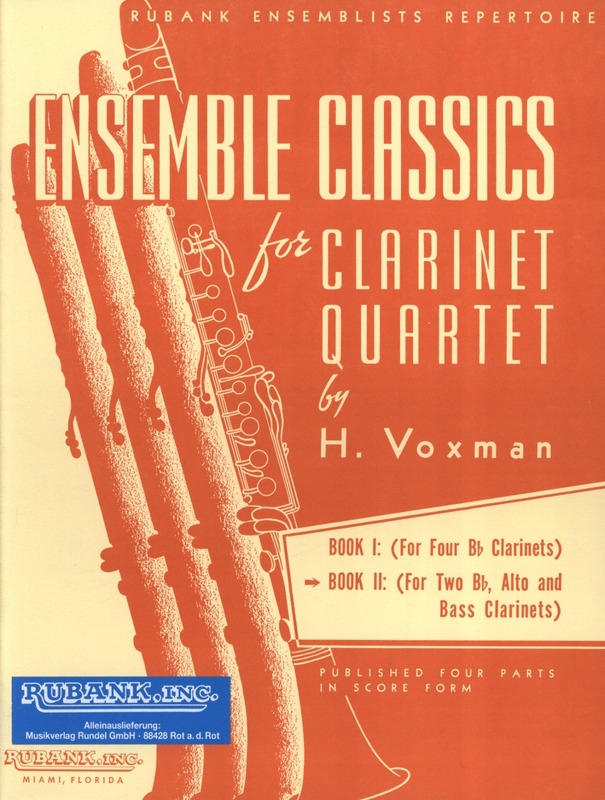 Ensemble Classics for Clarinet Quartet 2