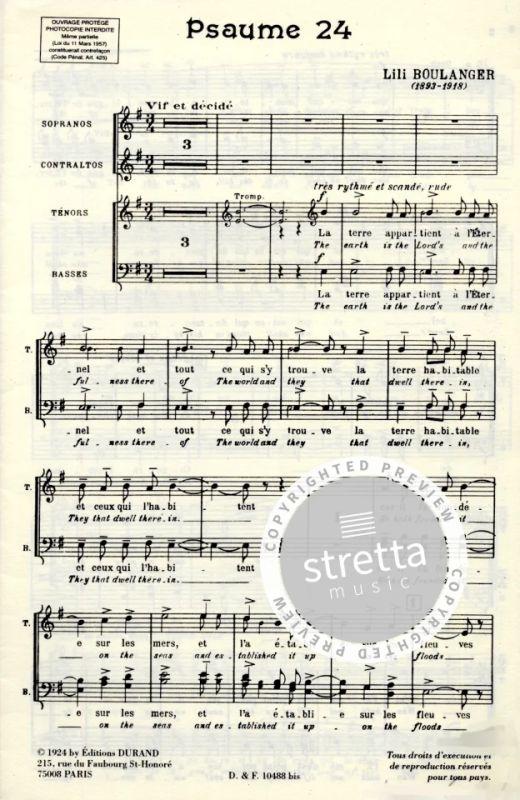 Psalm 24 (Psaume 24) - Gch Org Orch von Lili Boulanger | im