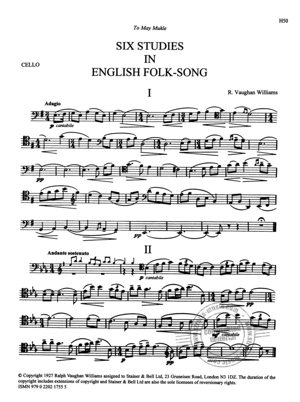 Ralph Vaughan Williams: Six Studies in English Folk Song