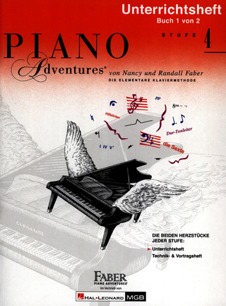 Nancy Faber et al.: Piano Adventures 4 – Unterrichtsheft