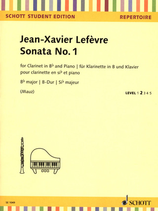 Jean-Xavier Lefèvre: Sonata No. 1 B major