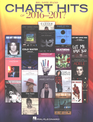 Chart Hits Of 2016-2017 - Big Note Piano