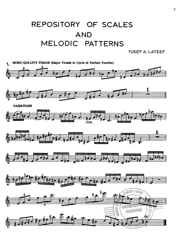 Yusef Lateef: Repository of Scales and Melodic Patterns (1)