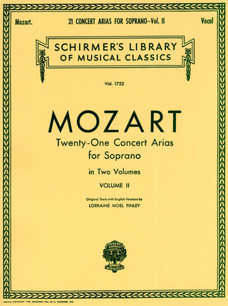 Wolfgang Amadeus Mozart: 21 Concert Arias for Soprano 2
