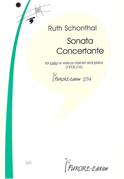Ruth Schonthal: Sonata Concertante for Cello and Piano (1973)