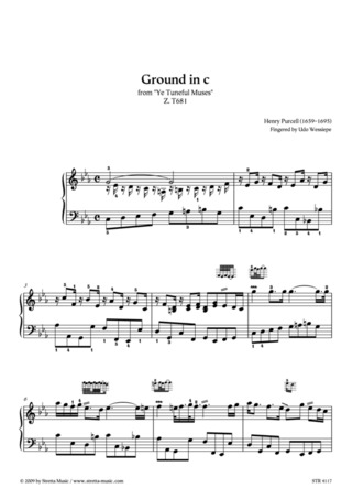 Henry Purcell: Ground in c