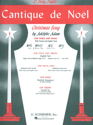 Adolphe Adam: Cantique De Noel - O Holy Night D-Dur