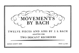 Johann Sebastian Bach: Movements by Bach
