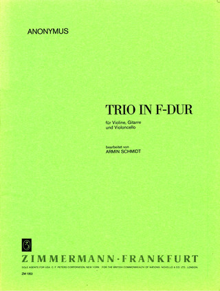 Anonymus: Trio F-Dur (Anonymus)