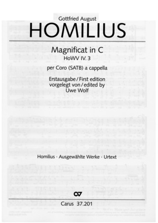 Gottfried August Homilius: Magnificat in C C-Dur IV.3