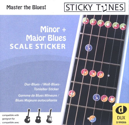 Sticky Tunes: Minor + Major Blues Scale Sticker