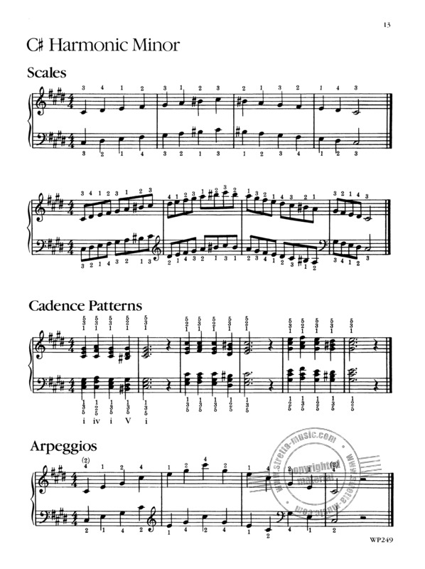 All-In-One Piano Scales Chords /& Arpeggios Sheet Music Book For All Methods