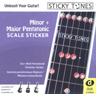 Sticky Tunes: Minor + Major Pentatonic Scale Sticker