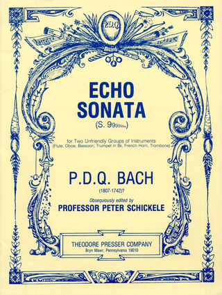 P.D.Q. Bach: Echo Sonata For 2 Unfriendly Groups Of Instruments