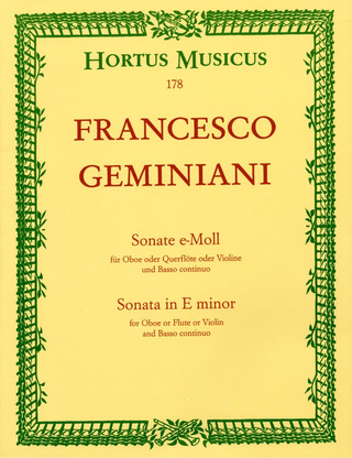 Francesco Saverio Geminiani: Sonata in E minor