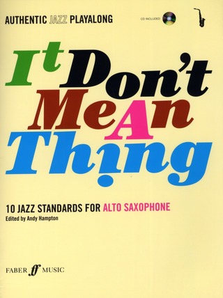 It Don't Mean A Thing (Alto Saxophone) Asax Book/Cd