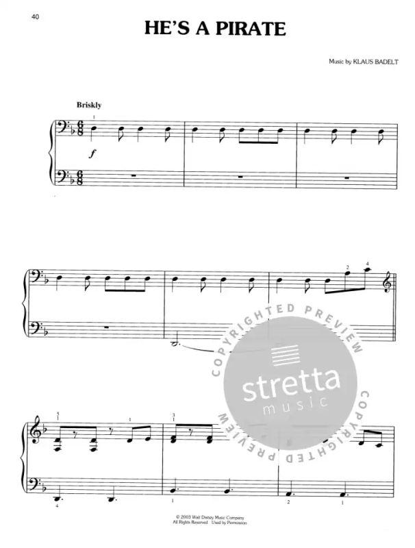 fluch der karibik piano