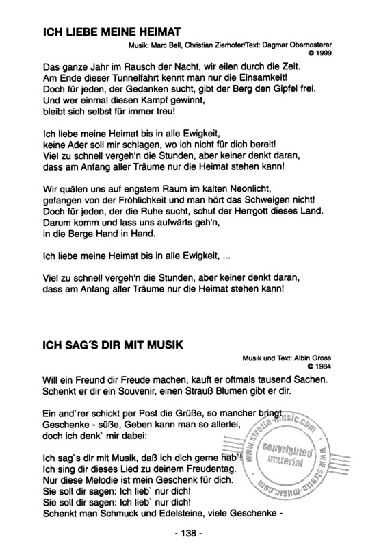 Das Grosse Textbuch Von Kastelruther Spatzen Im Stretta