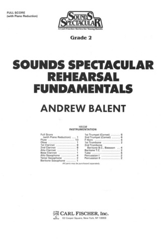 Andrew Balent: Rehearsal Fundementals
