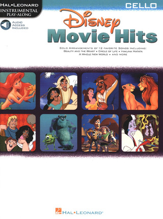 Disney Movie Hits Cello Bk/Cd