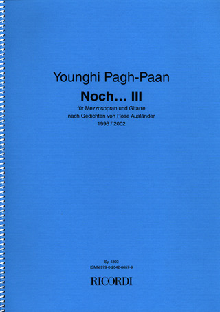 Younghi Pagh-Paan: Noch... III