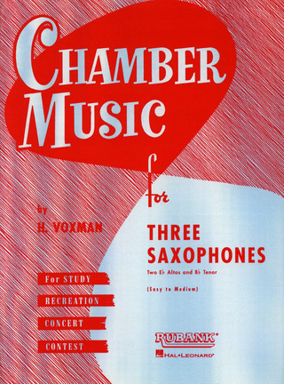 Chamber Music For Thee Saxophones