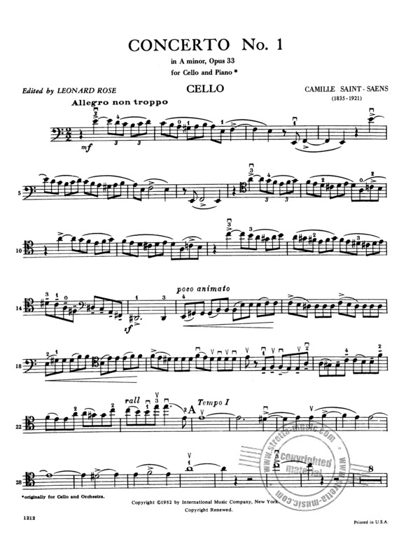 Camille Saint-Saëns: Concerto No. 1 in A minor, op. 33 (3)