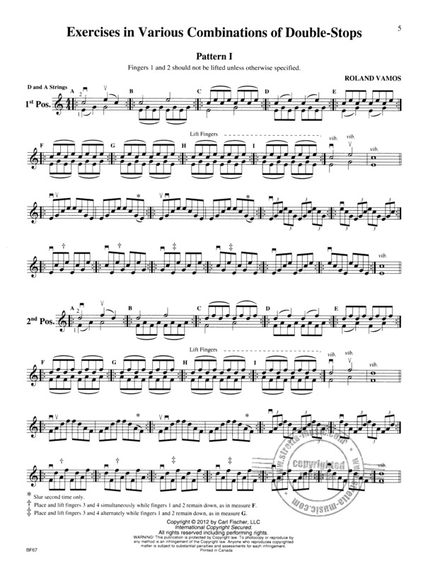 Roland Vamos: Exercises for the Violin (1)