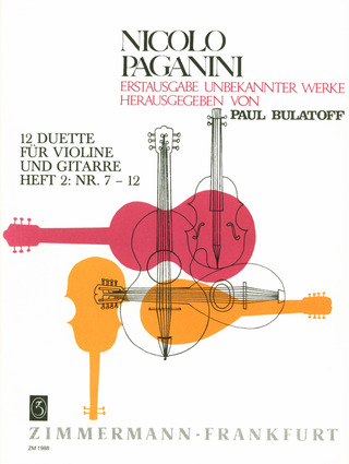 Zwolf Duette Heft 1 From Niccolo Paganini Buy Now In Stretta Sheet Music Shop