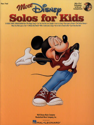 More Disney Solos For Kids Pvg Bk/Cd