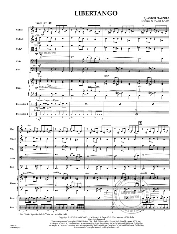 Libertango from Astor Piazzolla | buy now in Stretta sheet