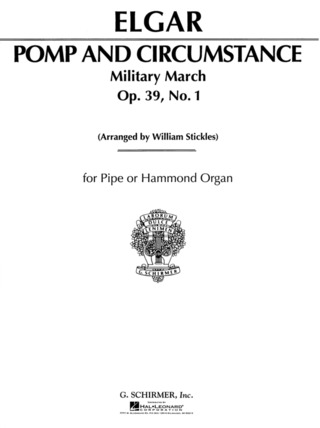 Edward Elgar: Pomp and Circumstance Military March No. 1 Op. 39 for Pipe or Hammond Organ