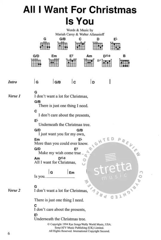 Big Christmas Guitar Chord Songbook   buy now in Stretta